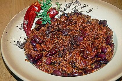 Chili con Carne mit  Zartbitter - Schokolade 2