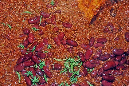 Chili con Carne mit  Zartbitter - Schokolade 6