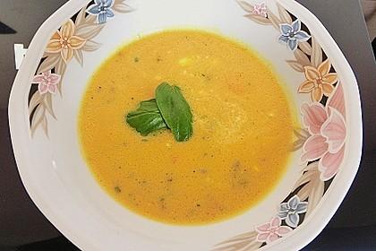 Kürbissuppe mit Krümel - Hack und Buttergemüse 2