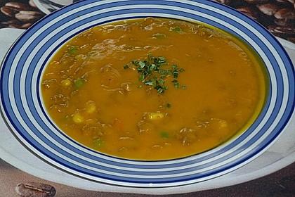 Kürbissuppe mit Krümel - Hack und Buttergemüse 1