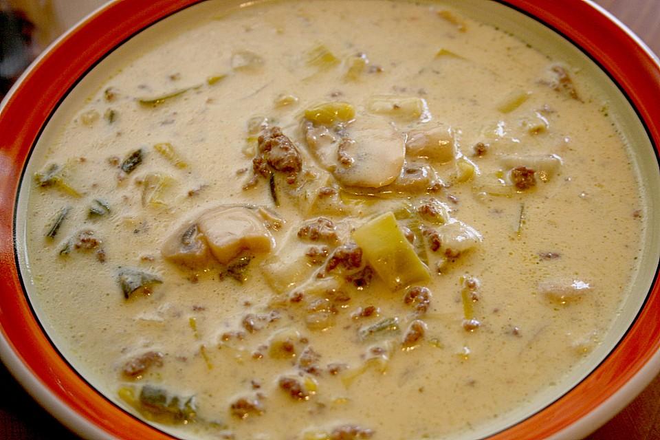 Champignon - Porree ( Lauch ) - Käse - Curry - Suppe von hermine ...