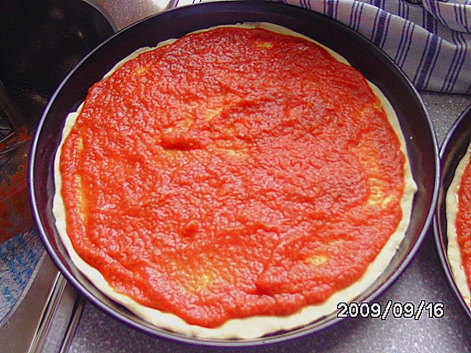 Pizza sauce verfeinern