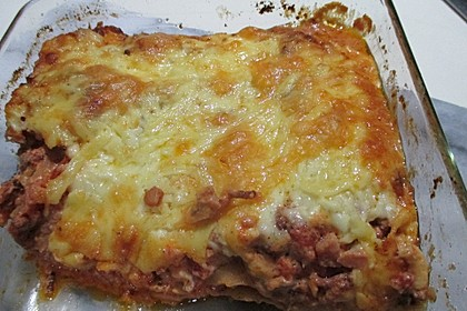 Cannelloni mit Hackfleisch - Frischkäse - Füllung