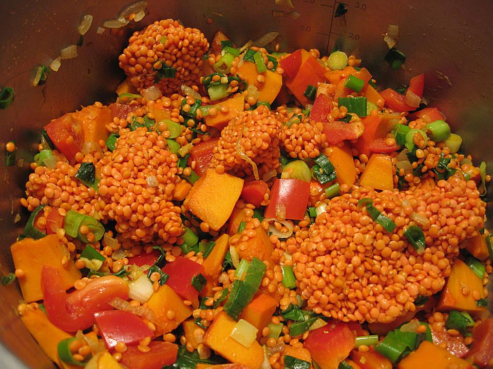 Rezept rote linsen paprika