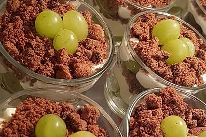 Dessert mit Weintrauben 25
