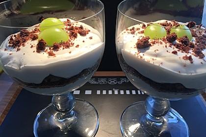 Dessert mit Weintrauben 28