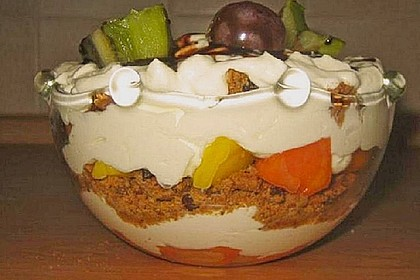 Dessert mit Weintrauben 35