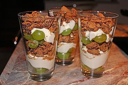 Dessert mit Weintrauben 20
