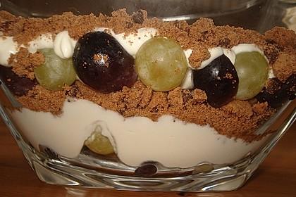 Dessert mit Weintrauben 58