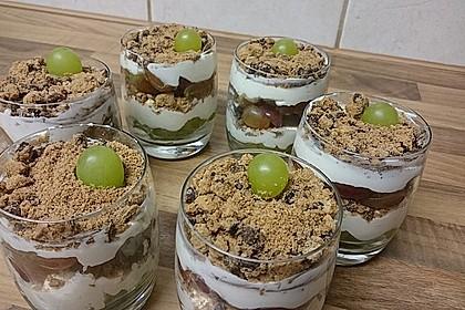 Dessert mit Weintrauben 9