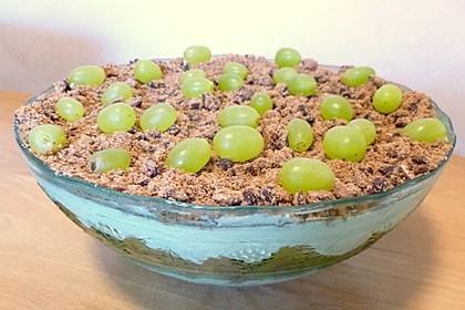 Dessert mit Weintrauben 78