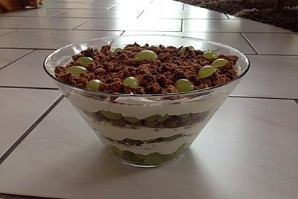 Dessert mit Weintrauben 76