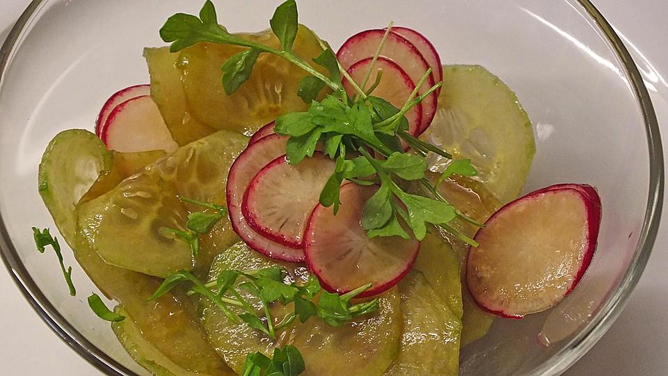 radieschen gurken salat rezept mit bild von plumbum. Black Bedroom Furniture Sets. Home Design Ideas