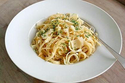 Knoblauchspaghetti (Bild)