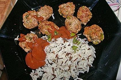 Duftende Thai - Fleischbällchen mit Erdnuss - Sauce 5