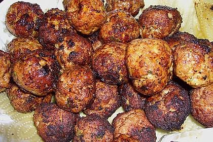 Duftende Thai - Fleischbällchen mit Erdnuss - Sauce 4