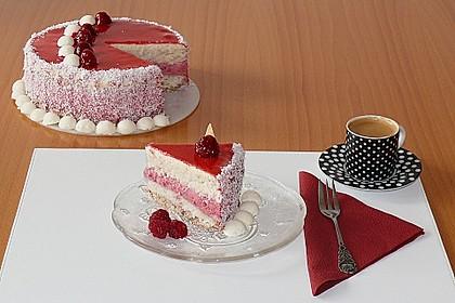 Himbeer - Kokos Wintertraum - Torte