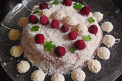 Himbeer - Kokos Wintertraum - Torte 3