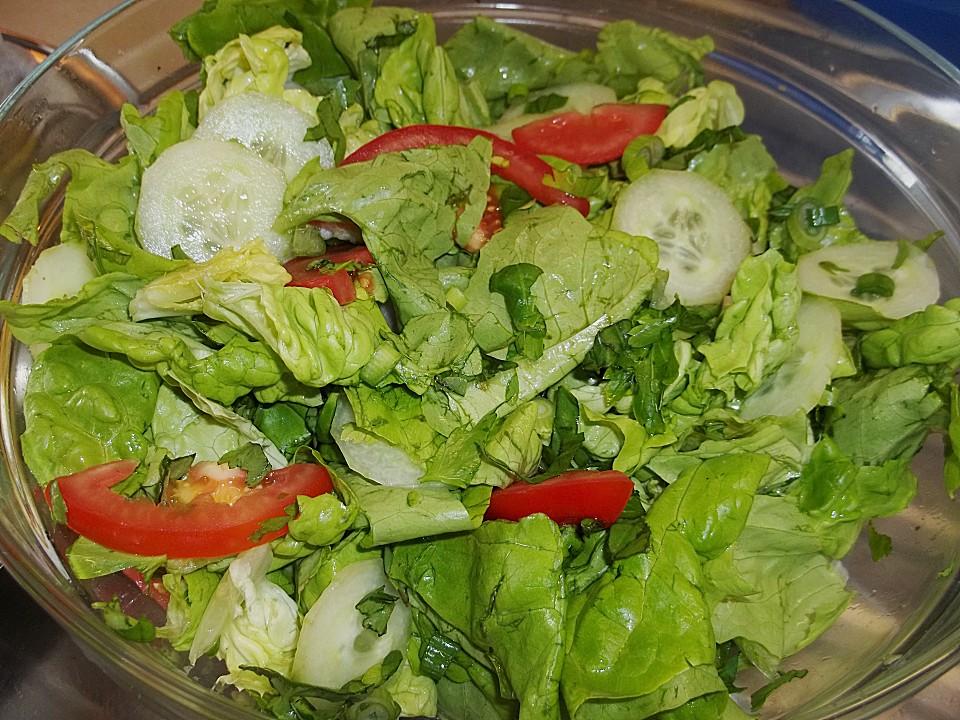gr ner salat mit zucker rezept mit bild von liesbeth. Black Bedroom Furniture Sets. Home Design Ideas