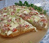 Fladenbrot - Pizza (Bild)