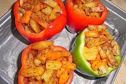 Paprika gefüllt mit Kartoffeln 5
