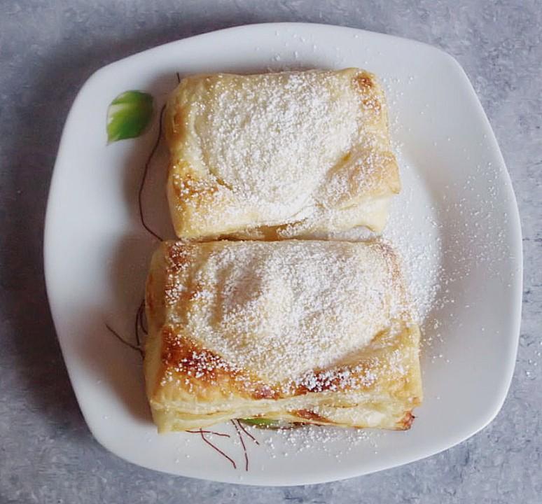 Schnelle Blechkuchen Rezepte Mit Bild: Schnelle Apfelschnecken Aus Blätterteig
