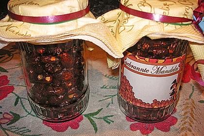 Gebrannte Mandeln mit wenig Zucker 35