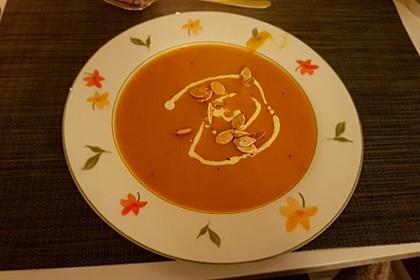 Kürbis - Kokos - Suppe mit Curry 4