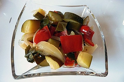 Süß - saure Zucchini Pickles 1