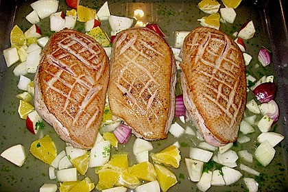 Entenbrust mit Salz - Honig - Kruste 0