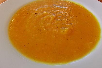 Kürbis - Steckrüben - Suppe mit Curry 1
