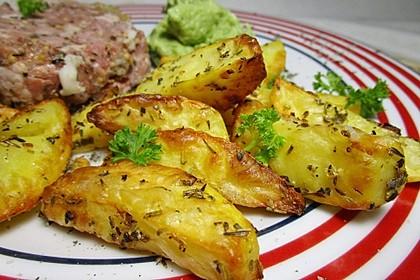 Fettarme Kartoffelspalten aus dem Ofen 46