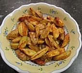 Fettarme Kartoffelspalten aus dem Ofen