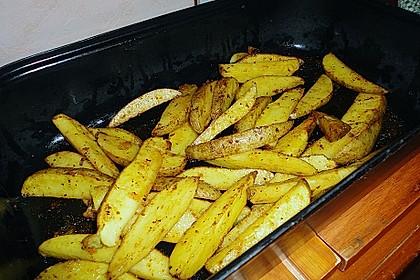 Fettarme Kartoffelspalten aus dem Ofen 81