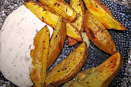 Fettarme Kartoffelspalten aus dem Ofen 7