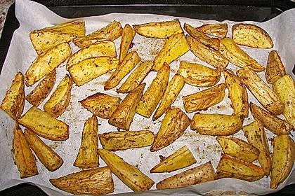 Fettarme Kartoffelspalten aus dem Ofen 63