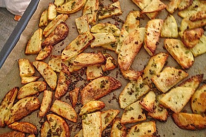 Fettarme Kartoffelspalten aus dem Ofen 65