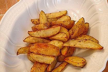 Fettarme Kartoffelspalten aus dem Ofen 12