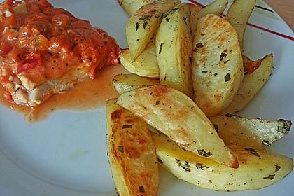 Fettarme Kartoffelspalten aus dem Ofen 5