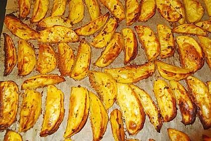 Fettarme Kartoffelspalten aus dem Ofen 8