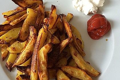 Fettarme Kartoffelspalten aus dem Ofen 40