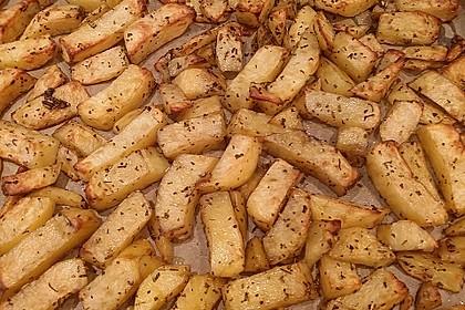 Fettarme Kartoffelspalten aus dem Ofen 18