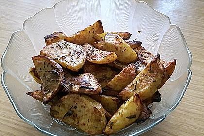 Fettarme Kartoffelspalten aus dem Ofen 21