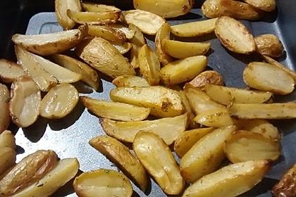 Fettarme Kartoffelspalten aus dem Ofen 60