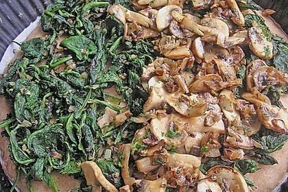 Dinkelquiche mit Spinat-Waldpilz-Füllung 19