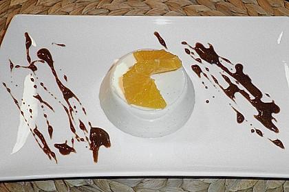 Orangen-Panna cotta 0
