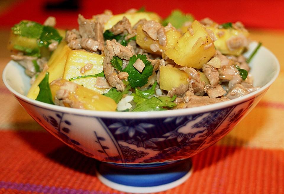 Sommergerichte Mit Schweinefleisch : Frischer koriander wok rezepte chefkoch.de