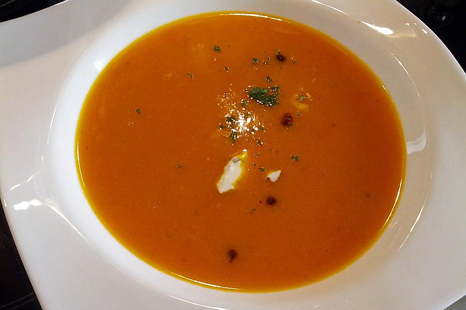 kürbissuppe (rezept mit bild) von elchforceone | chefkoch.de - Kürbissuppe Rezept Chefkoch