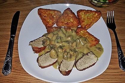 Champignons in Weißweinsauce auf Rösti 4