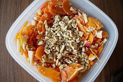 Möhren - Apfel - Salat mit Orangendressing und Walnüsse 5